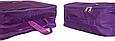 Набор органайзеров 5 шт. для вещей в чемодан для путешествий Фиолетовый, фото 2