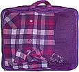 Набор органайзеров 5 шт. для вещей в чемодан для путешествий Фиолетовый, фото 8