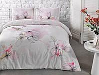 Двуспальное евро постельное белье TAC Jude Pink Сатин