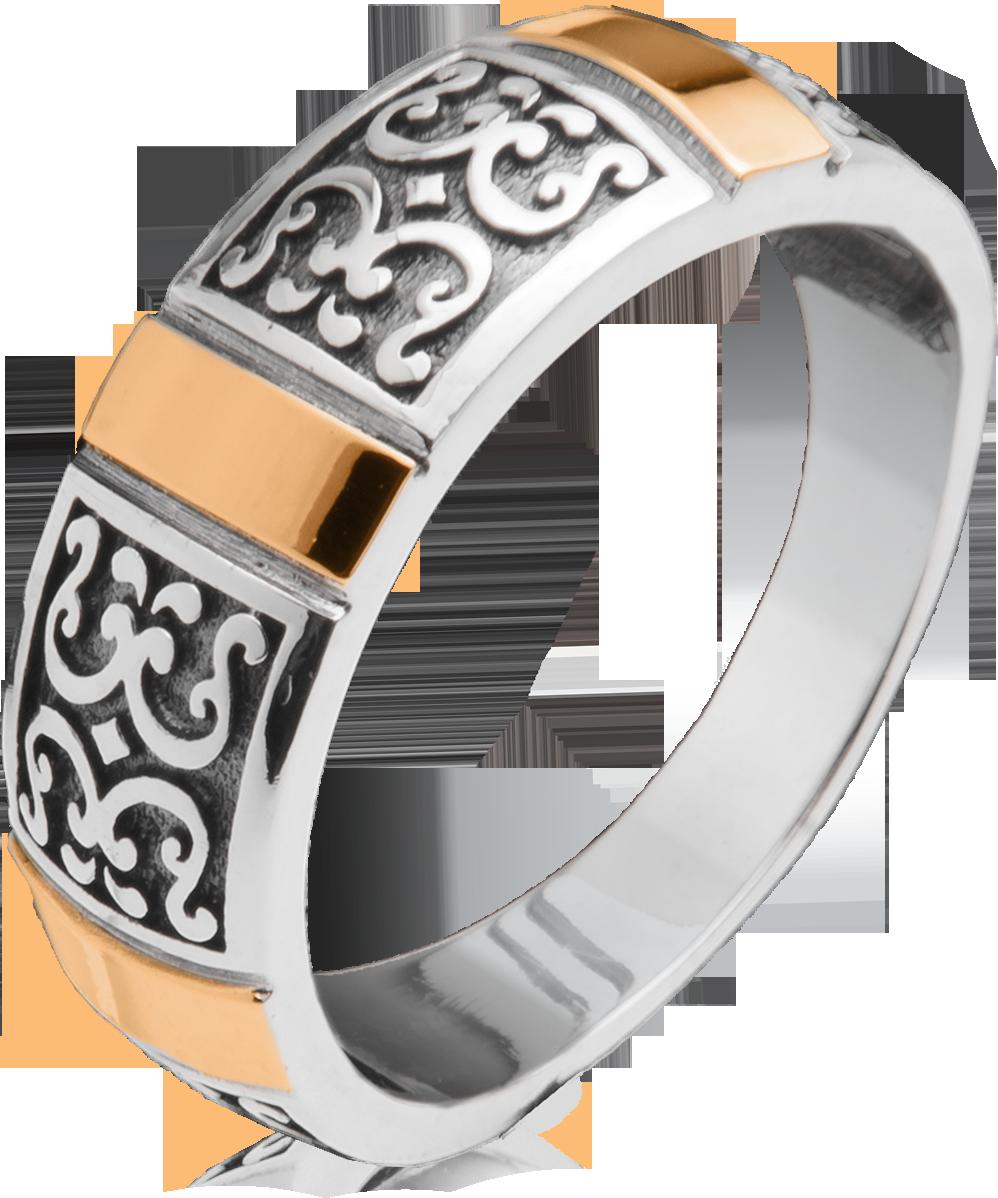 Срібне кільце зі вставками золота Юр'їв 169к 18
