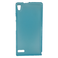 Силиконовая накладка Huawei Ascend P6 Голубой