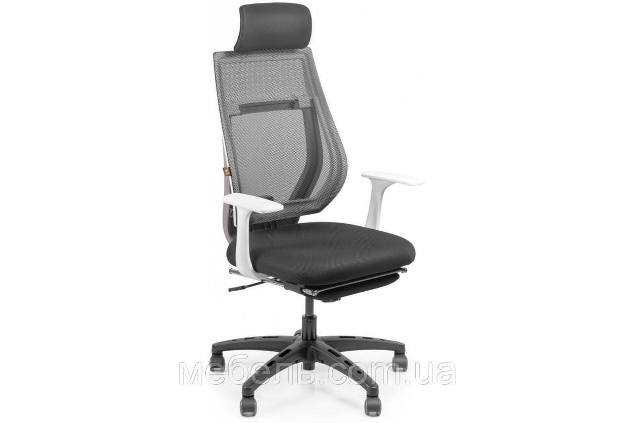 Офисное креслоBarsky Team White/Grey Arm_w Step TWGw_step-01