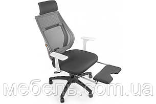 Офисное креслоBarsky Team White/Grey Arm_w Step TWGw_step-01, фото 2