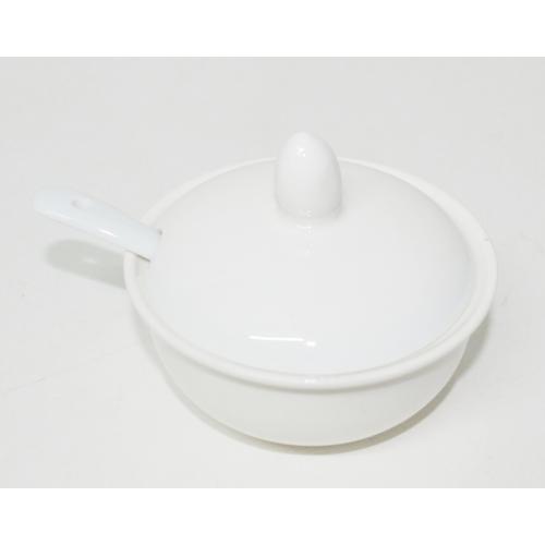 Соусник с ложкой керамический Белый VT-18650