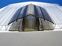 Профиль соединительный разъемный из поликарбоната КРЫШКА, бронза, 6-16 мм
