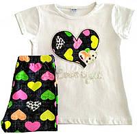 "Летний костюм (комплект) для девочки 3-4 лет (рост 98-104), ""Boyran"" Турция"