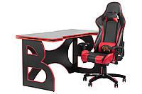 Мебель для работы дома рабочая станция Barsky Homework Game Red HG-05/SD-13
