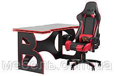 Компьютерный стол со стулом Barsky HG-05/SD-13 Homework Game Red,  рабочая станция, фото 2