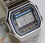 Наручные часы  A-168WA-1 с серебряным браслетом, фото 5