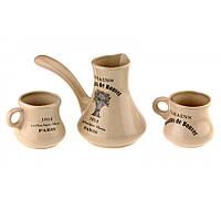 Набор кофейный VINTAGE бронза 3 предмета