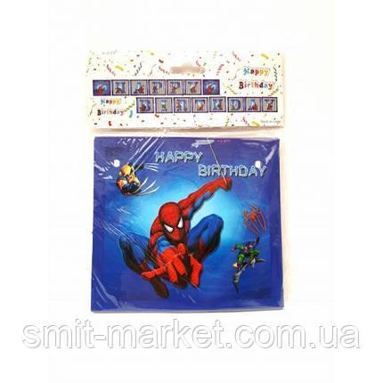 Гірлянда Happy Birthday Людина Павук, фото 2
