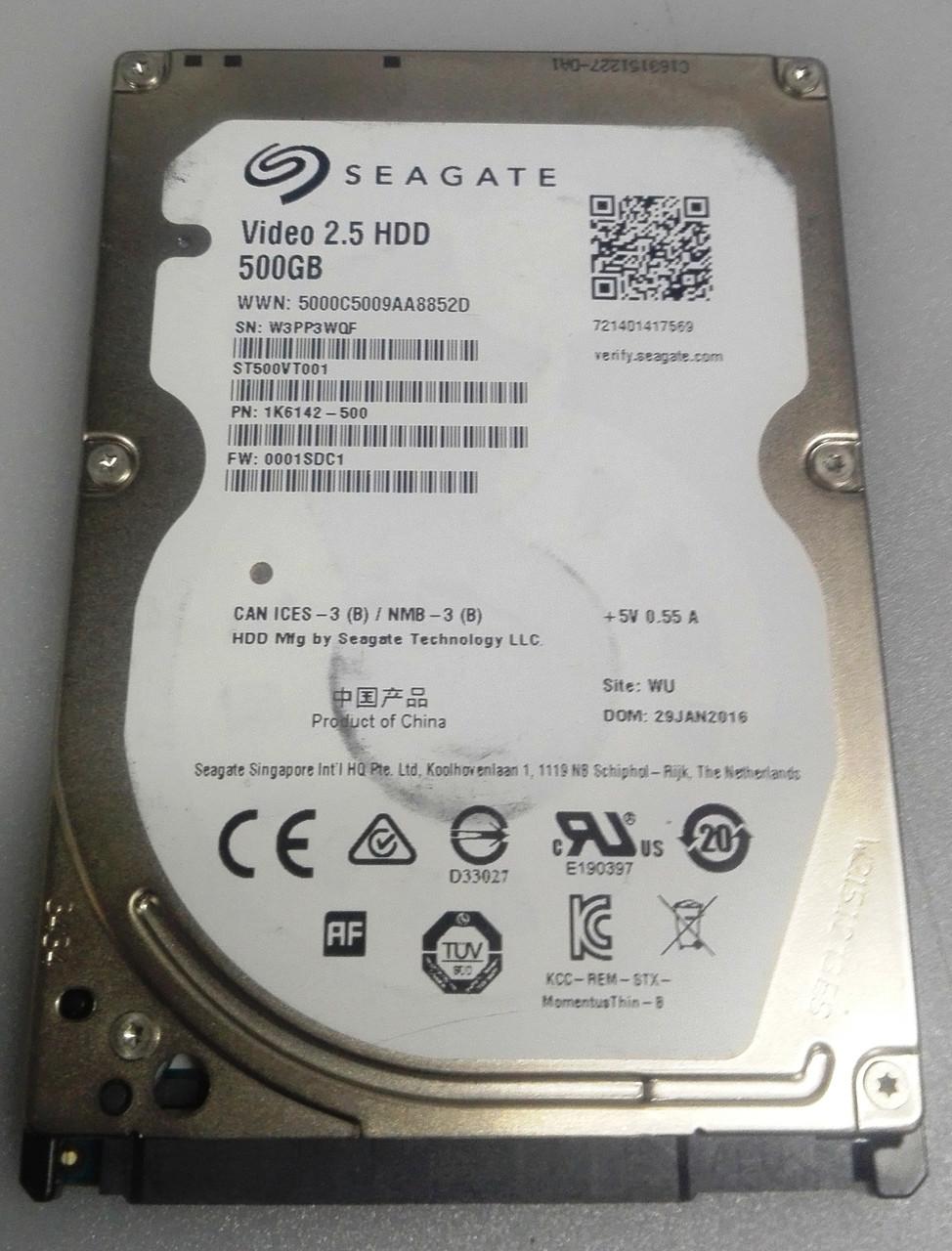 """Жесткий диск для ноутбука Seagate Video 500GB 16MB 2.5"""" 5400rpm"""