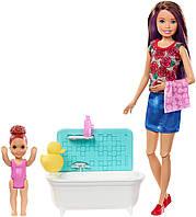 Барби Скиппер няня Время купания