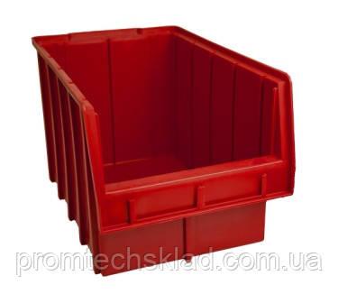Ящик складской 700 для хранения метизов красный