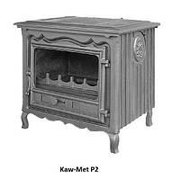 Чугунная печь-камин  kaw-met p2, отопительно-варочная 10 кВт