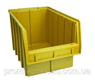 Ящик складський 700 для зберігання метизів жовтий