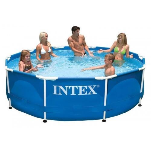 Круглый каркасный бассейн Metal Frame Pool Intex 305х76 см (28202)