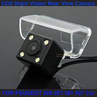 Камера заднего вида PEUGEOT 206 207 307 407 изображение цветная матрица CCD, фото 1