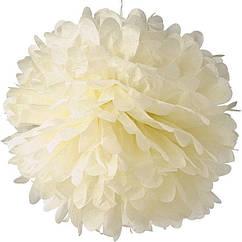 Бумажный помпон для праздничных декораций 50 см ваниль