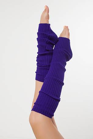 SEWEL Гетры GW073 (60 см, фиолетовый, 100% акрил), фото 2