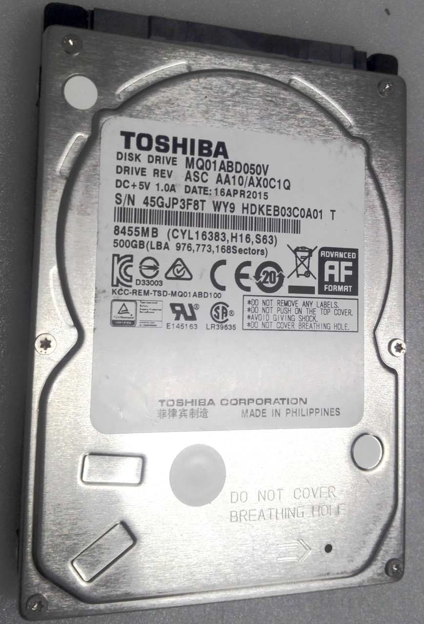 """Жорсткий диск для ноутбука Toshiba 500GB 2.5"""""""