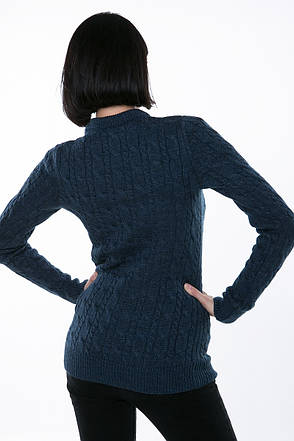 SEWEL Джемпер JW341 (42-44, джинс, 60% акрил/ 30% шерсть/ 10% эластан), фото 2