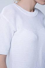 SEWEL Джемпер JS413 (46-48, ярко-белый, 50% хлопок/ 50% акрил), фото 3