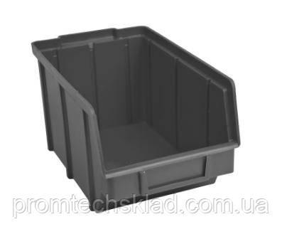 Ящик складской 701 для метизов черный стандарт 230х145х125 мм