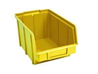 Ящик складской 701 для хранения метизов желтый
