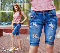 Бриджи джинсовые на лето