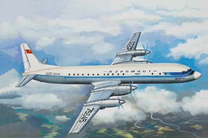 Советский пассажирский самолет Ил-18 АБ. Сборная модель. 1/144 EASTERN EXPRESS 14464, фото 2