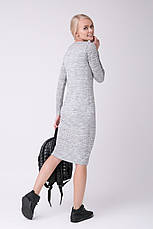 SEWEL Платье PW463 (46-48, светло-серый меланж, 60% акрил/ 30% шерсть/ 10% эластан), фото 3