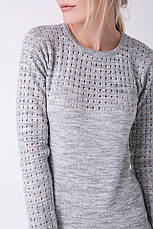 SEWEL Платье PW463 (46-48, светло-серый меланж, 60% акрил/ 30% шерсть/ 10% эластан), фото 2