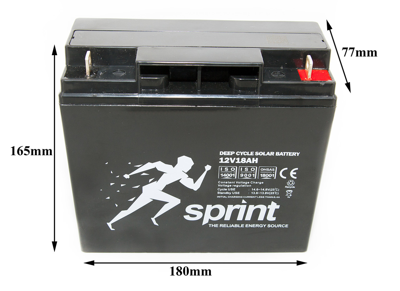 Аккум. батарея 12v18AH - SPRINT