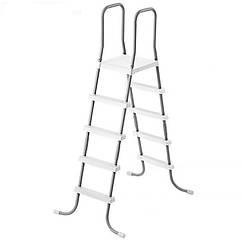 Лестница для бассейнов серого цвета, высота 132 см Intex (28067)