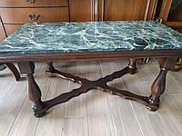 Кофейный/журнальный столик из натурального камня мрамора и дерева /Голландия , фото 1