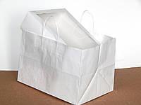 Пакет из крафт бумаги с ручками / упаковка 5 шт