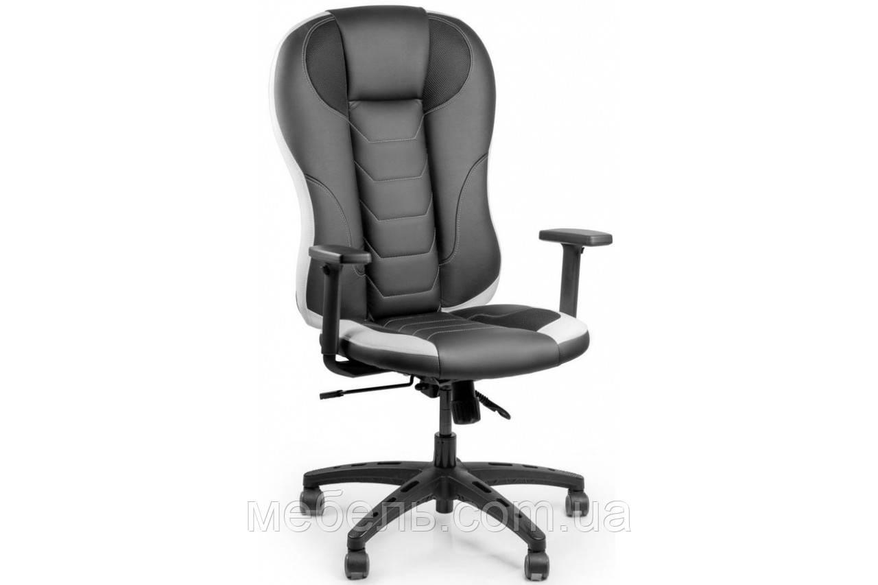Кассовое кресло Barsky Sportdrive Elite Black/White Arm_1D   Synchro PA_designe BSDEsyn-04