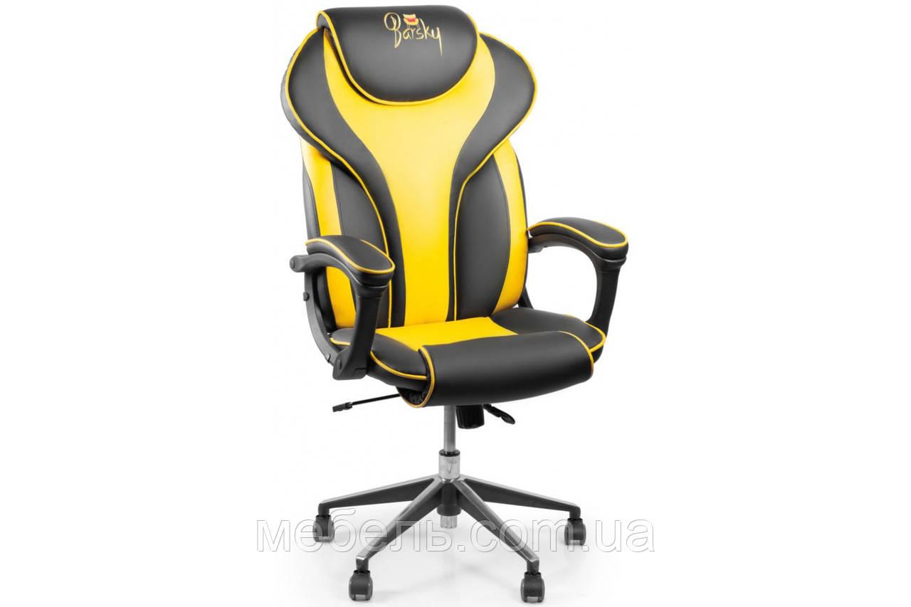 Кресло для домашенего кабинета Barsky Sportdrive Blackberry Fibre Arm_pad Anyfix Alum BSDany_alu-07
