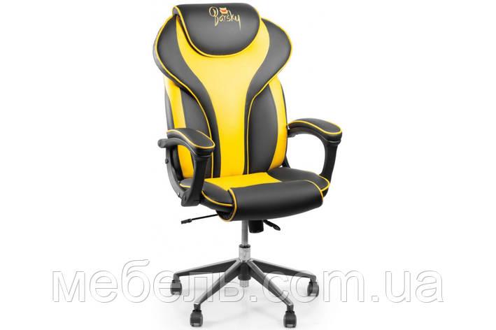 Кресло для домашенего кабинета Barsky Sportdrive Blackberry Fibre Arm_pad Anyfix Alum BSDany_alu-07, фото 2