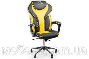 Компьютерное детское кресло Barsky Sportdrive Yellow Arm_pad Anyfix Alum BSDany_alu-06, фото 2