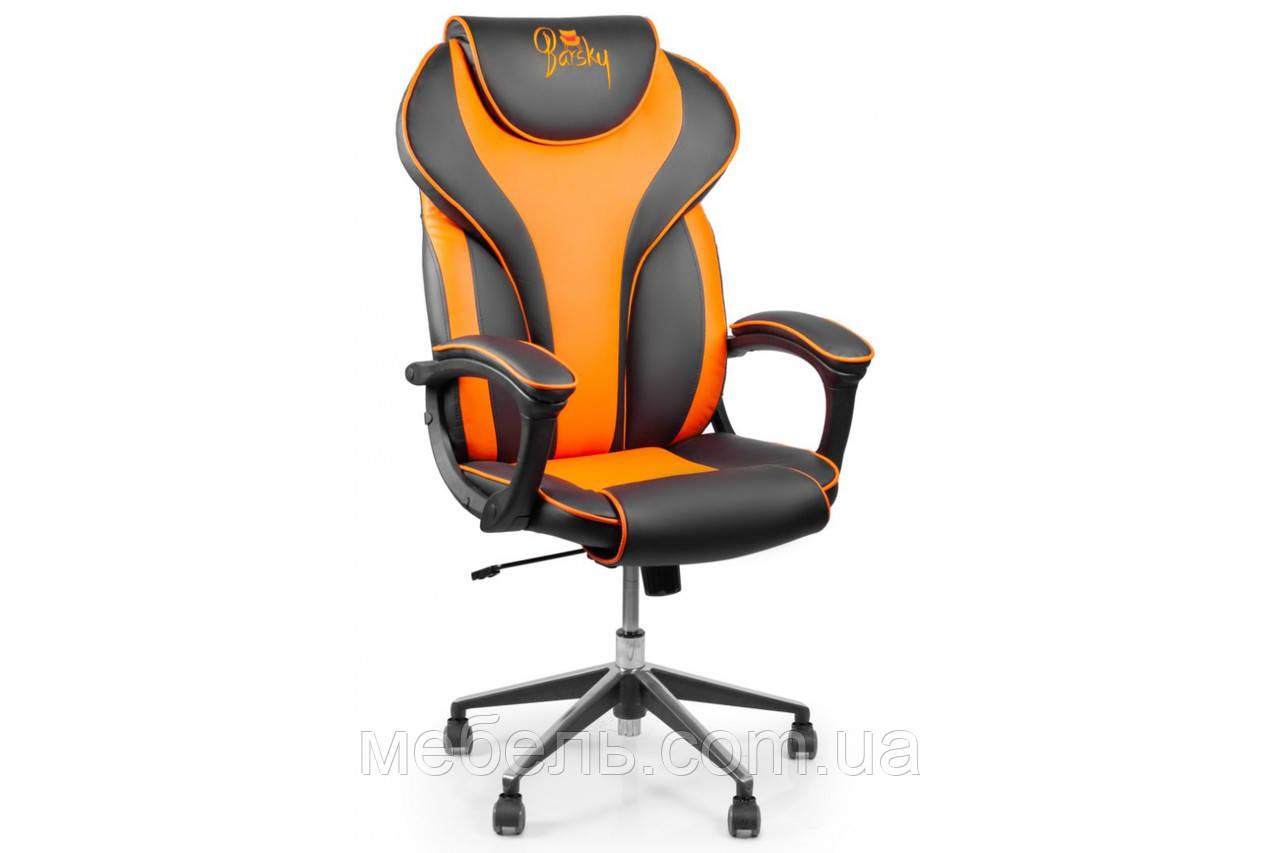 Кресло для домашенего кабинета Barsky Sportdrive Orange  Arm_pad Anyfix Alum BSDany_alu-05
