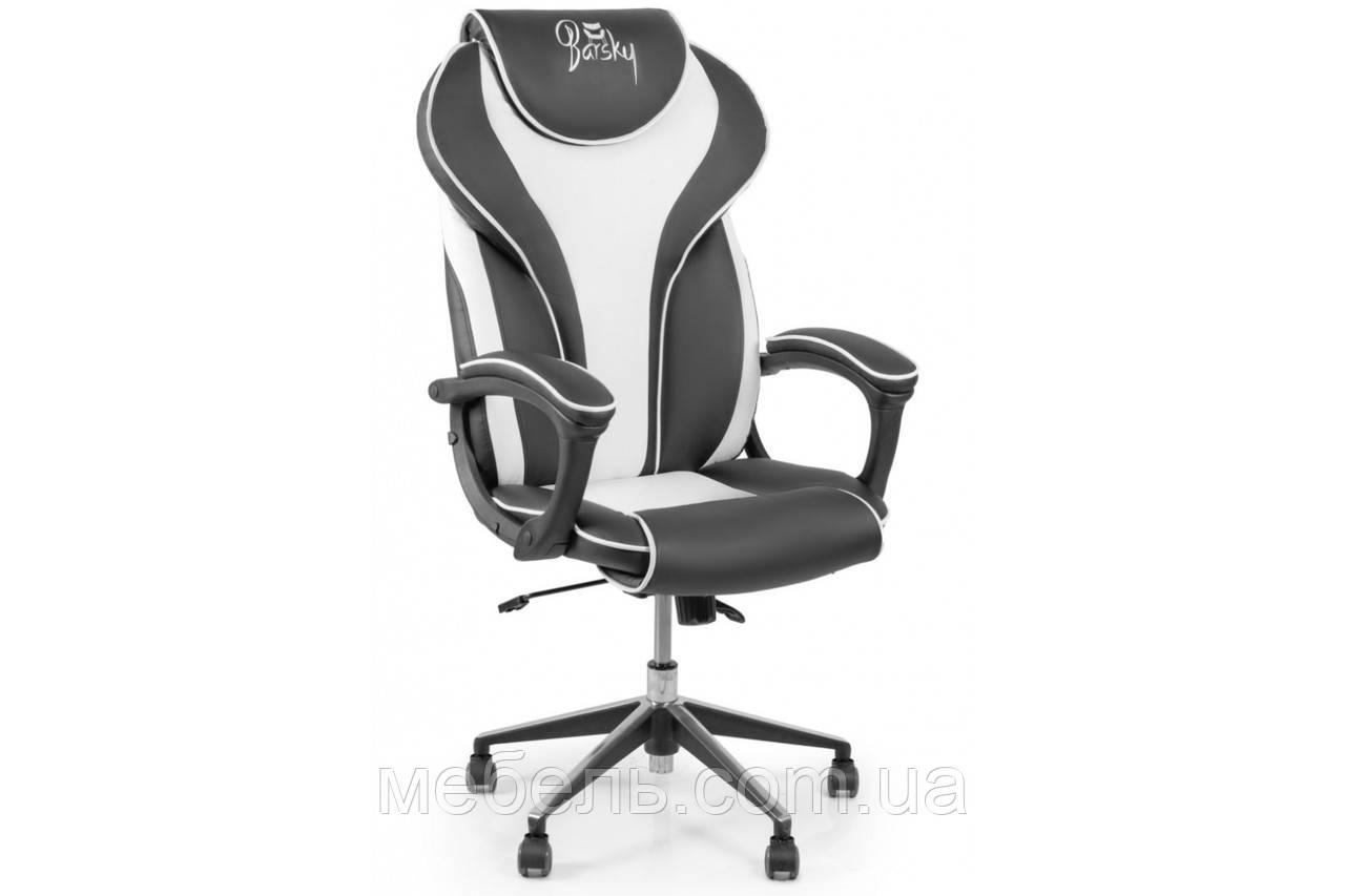 Геймерское кресло Barsky Sportdrive White Arm_pad Anyfix Alum BSDany_alu-04