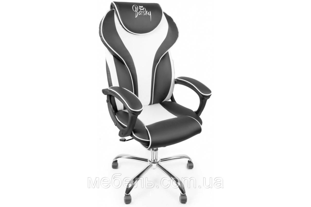 Кассовое кресло Barsky Sportdrive White Arm_pad Tilt Chrome BSDchr-04