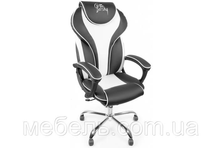 Кассовое кресло Barsky Sportdrive White Arm_pad Tilt Chrome BSDchr-04, фото 2