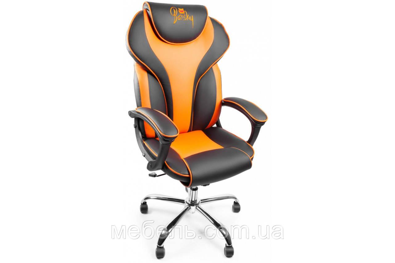 Кресло для врача Barsky Sportdrive Orange Arm_pad Tilt Chrome BSDchr-05