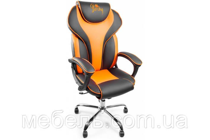 Кресло для врача Barsky Sportdrive Orange Arm_pad Tilt Chrome BSDchr-05, фото 2