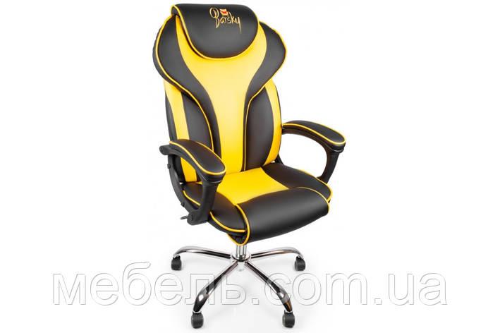 Кресло для домашенего кабинета Barsky Sportdrive Yellow Arm_pad Tilt Chrome BSDchr-06, фото 2