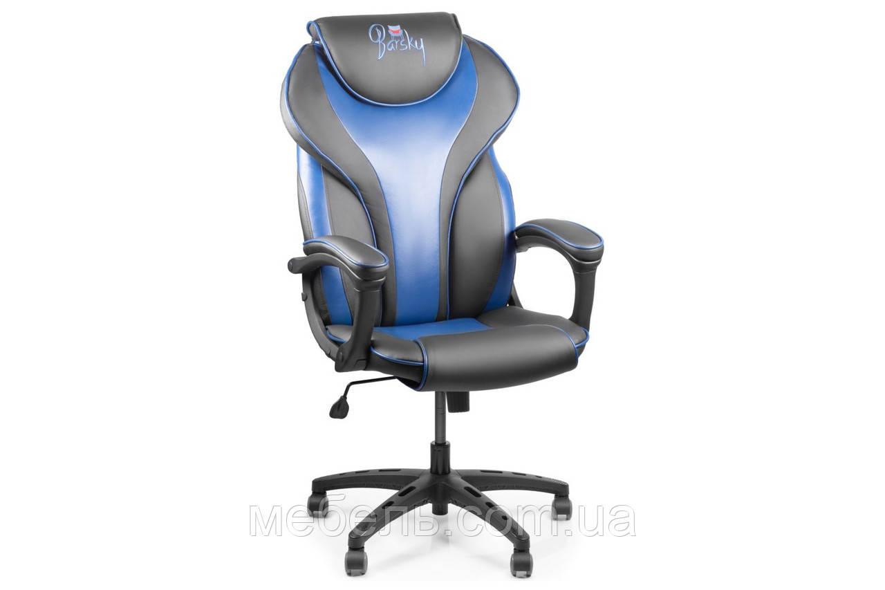 Компьютерное детское кресло Barsky Sportdrive Blue Arm_pad Tilt PA_designe BSD-02