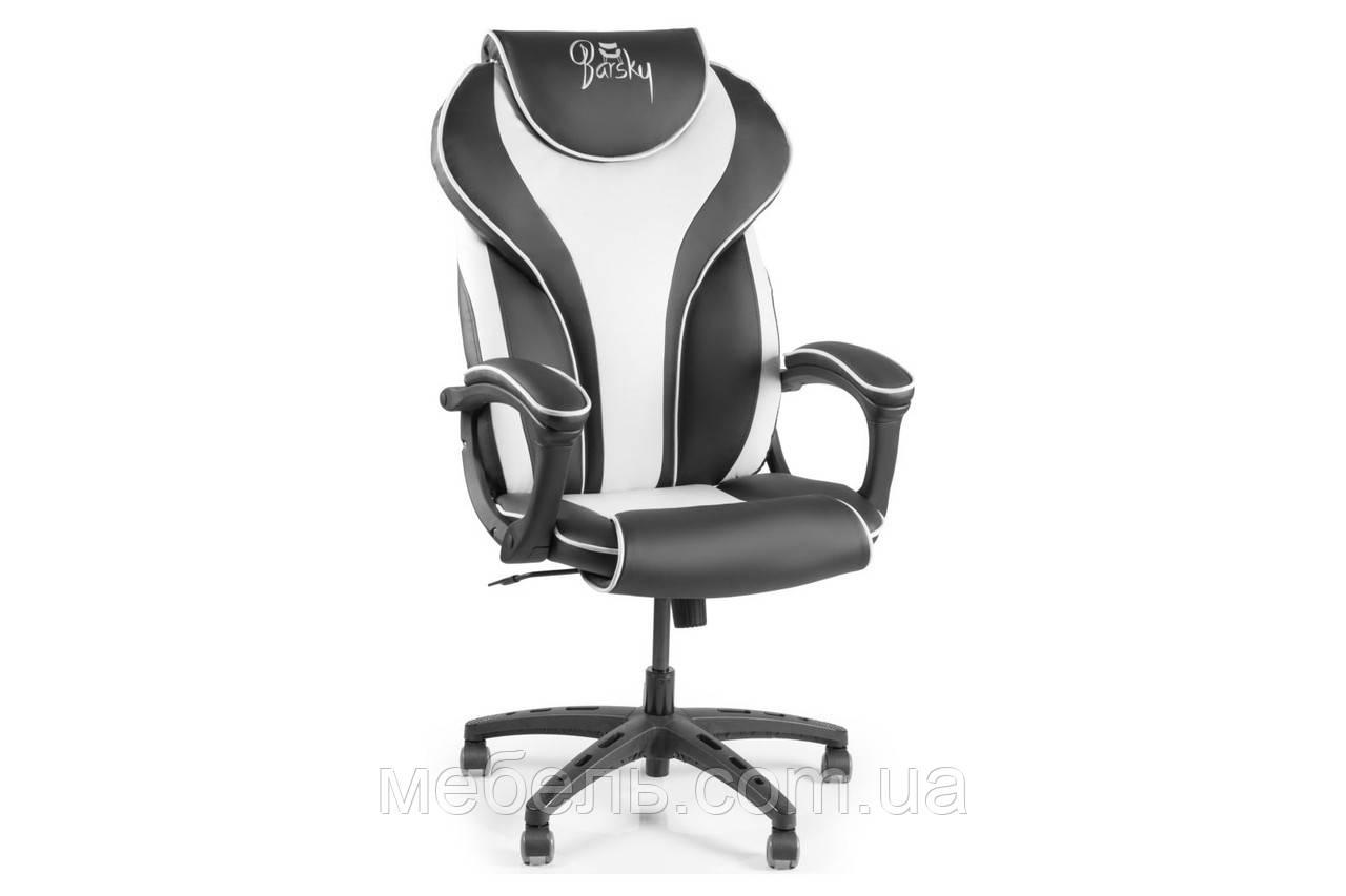 Компьютерное детское кресло Barsky Sportdrive White Arm_pad Tilt PA_designe BSD-04